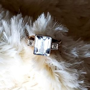 Amazing vintage 10kt gold ring sz 6 3/4